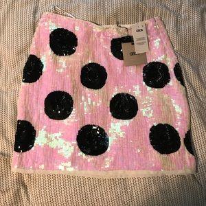 ASOS sequin polka dot skirt